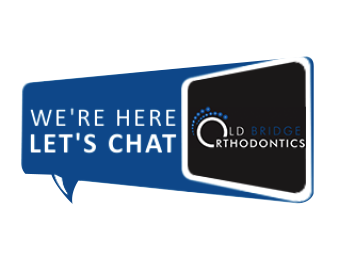 Old Bridge Orthodontics Let,s Chat Bubble